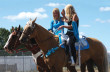 Emily and Niki prior to their performance at the 2013 Strathmore Rodeo